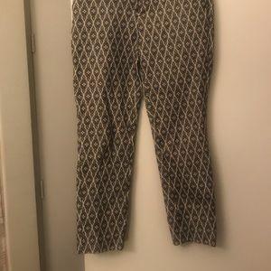 Patterned cute crop pants